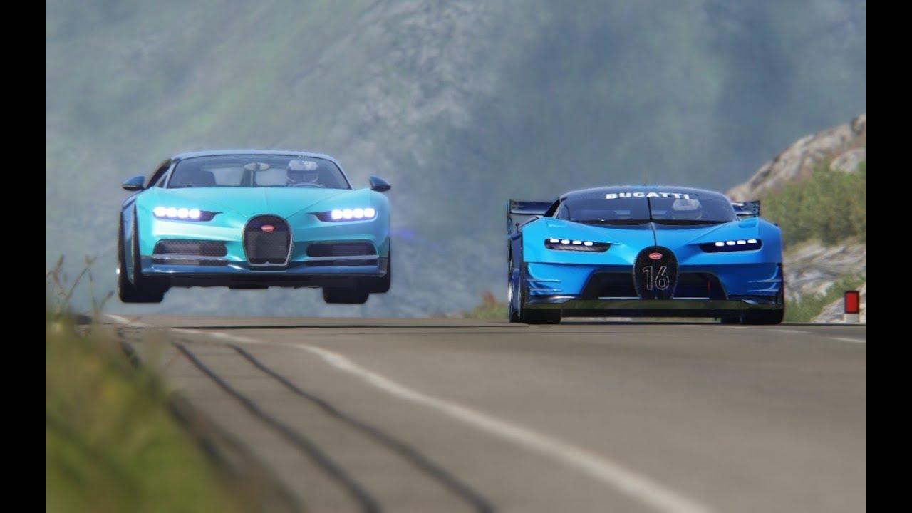 Bugatti Vision Gt Price >> Bugatti Vision Gt Vs Bugatti Chiron At Highlands