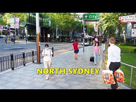 NORTH SYDNEY Walk + Underground Walk At Greenwood Plaza To Train Station & Sydney Harbour Bridge