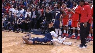 DeMarcus Cousins' leg injury - torn achilles vs Houston (01.26.2018)