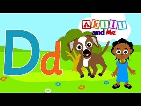 D is for Dog! | Learn Letter D with Akili | Cartoons for Preschoolers