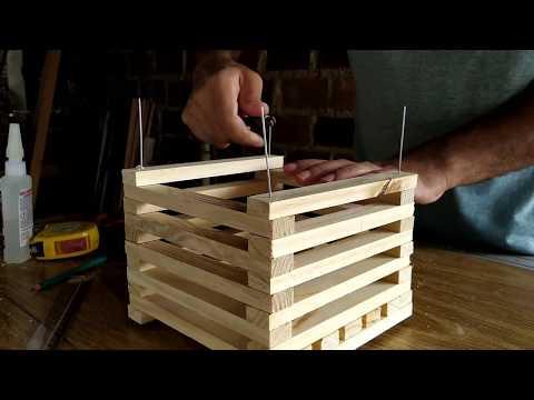 Como fazer cachepot quadro para orquídeas usando madeira de pinus.