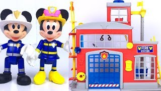 DISNEY JUNIOR MICKEY MOUSE CLUBHOUSE TO THE RESCUE FIRE STATION WITH FIREMAN MICKEY - UNBOXING