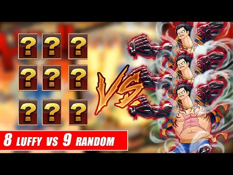 Song đấu One Piece : 8 Luffy Vs 9 Người Bí ẩn