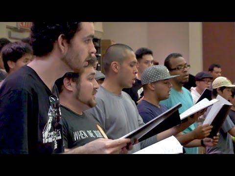 University of Hawaii at Manoa choir rehearsing il Cantico del Sole