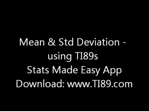 Mean and standard deviation on the ti89 youtube mean and standard deviation on the ti89 ccuart Choice Image
