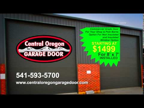 central oregon garage doorCommercial Garage Doors for Your Shop or Pole Barn  YouTube