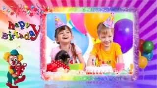 С днём рождения - шаблоны слайд-шоу для детей
