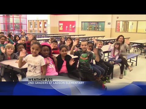 Rob Fowler visits Ladson Elementary School 2nd graders for Weather 101