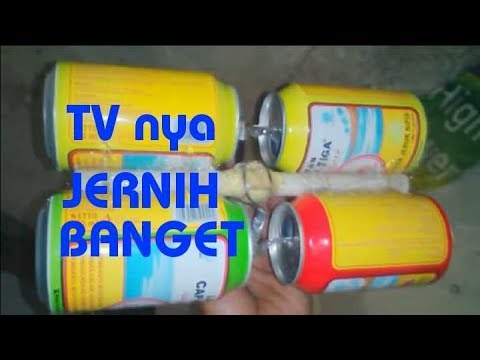 Antena Tv Hd Dari Kaleng Bekas 100 Tv Jernih Youtube
