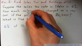 Sales Tax and Commission.  Examples 1-2