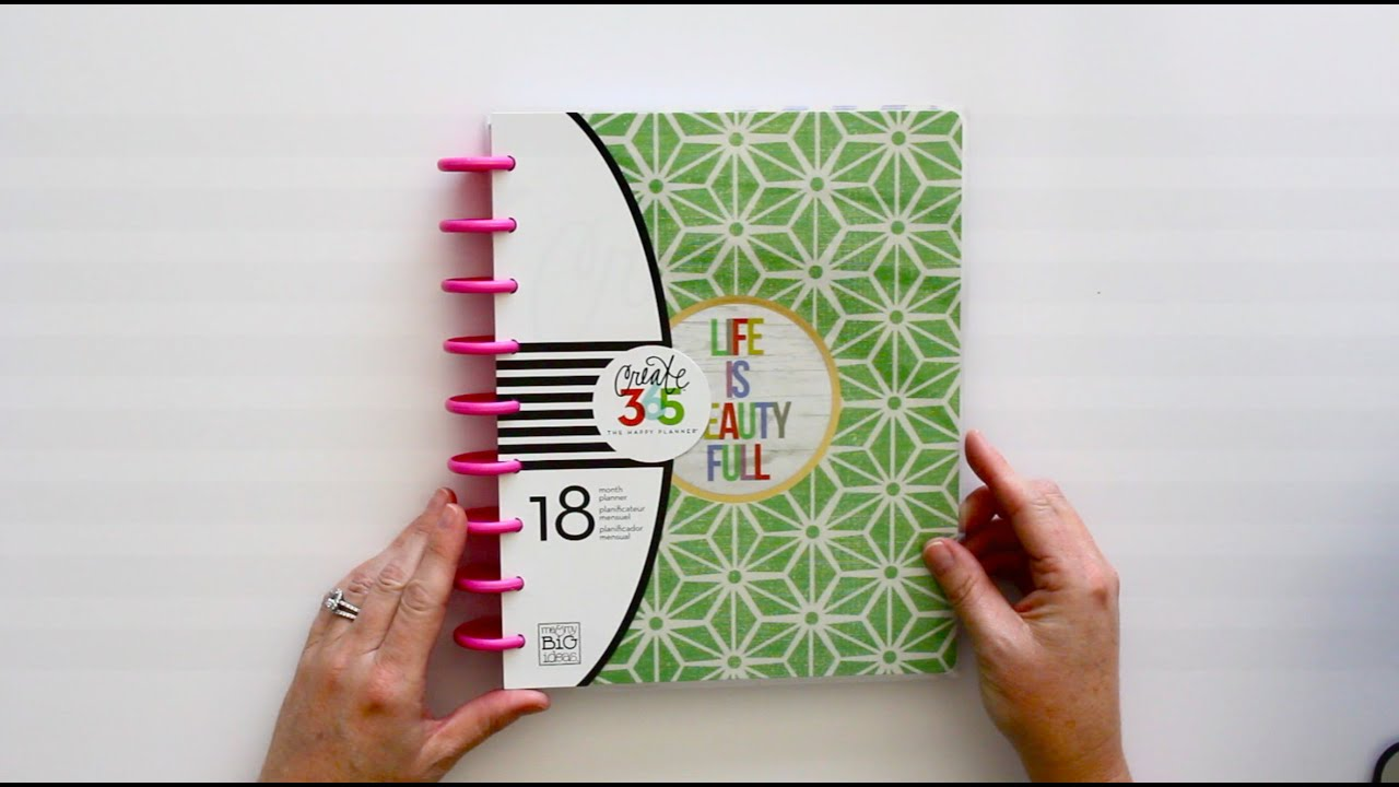 the happy planner preview life is beauty full youtube
