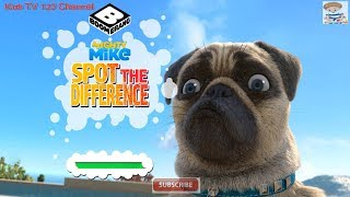 Mighty Mike | Spot The Difference | Keep Your Eyes Peeled (Boomerang Games) | Kids TV 123 Channel