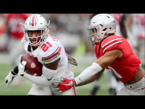 Why was Ohio State's offense better than the defense in the spring game?