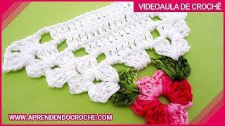 Motivo Triângulo de Crochê Floral – Aprendendo Crochê