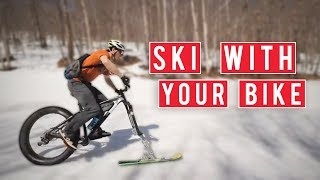 Converting Your Mountain Bike Into Downhill Skis