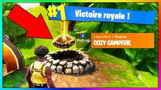 JE FAIS UN TOP 1 AVEC LE FEU DE CAMP EN BATTLE ROYALE !!! // Fortnite