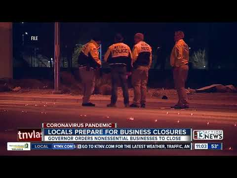 Vegas residents prepare for business closures