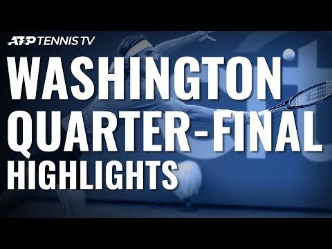 Tsitsipas, Kyrgios Set Mouthwatering Semi-Final   Washington 2019 Quarter-Final Highlights