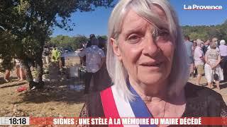 Signes : Une stèle en hommage au maire décédé Jean-Mathieu Michel