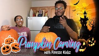 Pumpkin Carving with Finesse Kickz