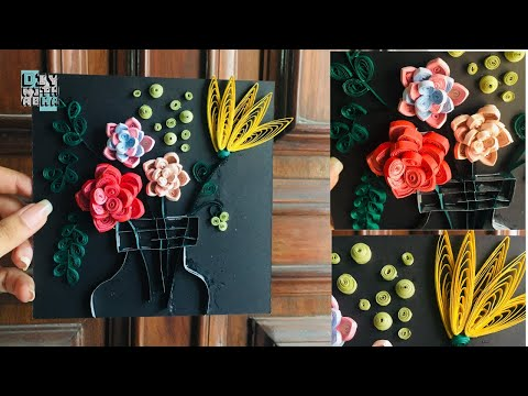 Quilling Wall Art   Home Decor DIY   Paper Craft