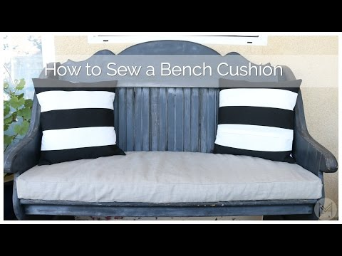 How to Sew a Bench Cushion in 2 hours