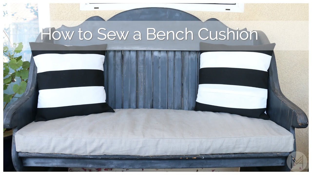how to sew a bench cushion in 2 hours youtube. Black Bedroom Furniture Sets. Home Design Ideas