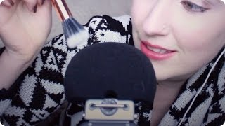 asmr microphone brushing scratching w breathy whispers tapping relaxation