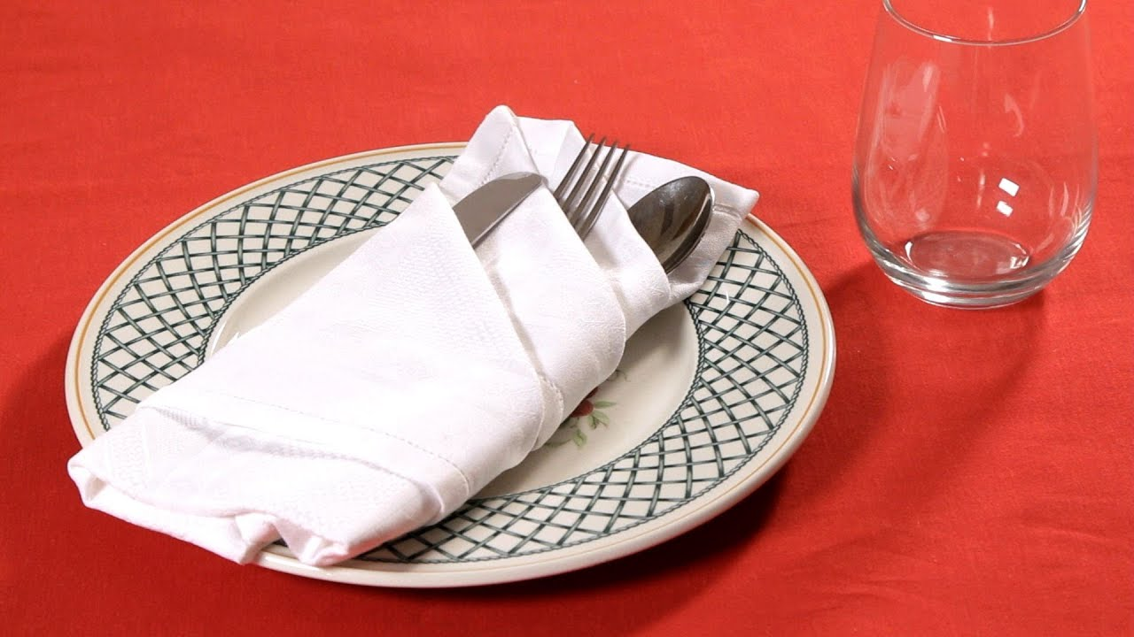 How to Fold a Napkin into a French Pleat Napkin Folding YouTube