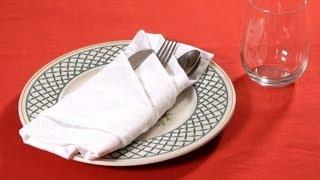 How To Fold A Napkin Into A French Pleat | Napkin Folding