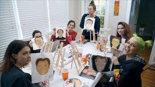 Sister vs Sister Painting Challenge (Nicolas Cage Edition)