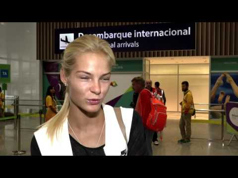 Дарья Клишина прилетела в Рио