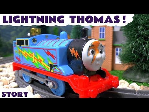 Thomas and Friends Lightning Thomas with Avengers Thor and Iron Man Family Fun Toys
