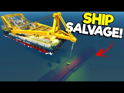 We Used a Massive Crane Ship to Save Sinking Ships?! - (Stormworks Gameplay)