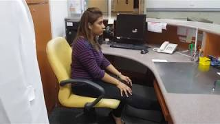 Health Message - Exercise At Your Work Desk