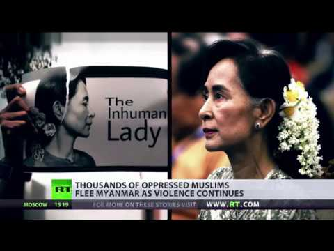 What is Aung San Suu Kyi doing about Myanmar violence?