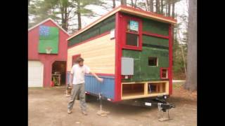 The Whirly House 8x18 Tiny House Build Walkthrough Youtube