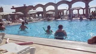 Турция Анталья Hotel Club Sera 5* октябрь 2018 Занятия аквааэробикой в бассейне с морской водой