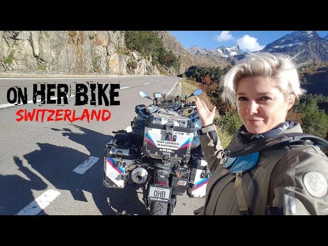 Switzerland. On Her Bike Around the World. Episode 26
