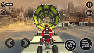Racing Quad Bike Moto Stunt   ATV Impossible Track #02