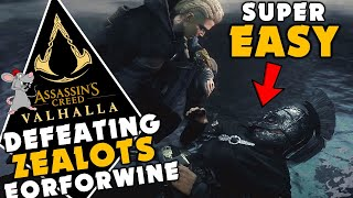 ASSASSINS CREED VALHALLA - HΟW TO DEFEAT ZEALOTS SUPER EASY! Underpowered Guide To Eorforwine