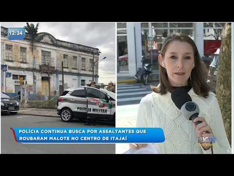 Polícia procura criminosos que efetuaram assalto no centro de Itajaí