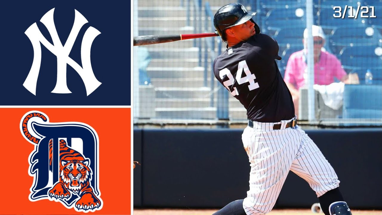 Download New York Yankees Vs. Detroit Tigers   Spring Training Highlights   3/1/21