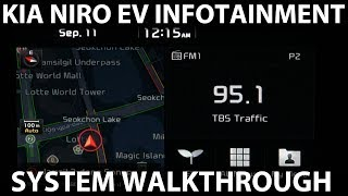 Kia Niro EV infotainment system walkthrough