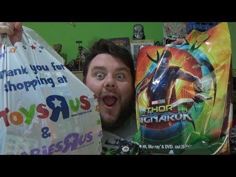 Toy Haul - Toys R Us UK Closing Down Sale - Spiderman, Wonder Woman, Chase Pop Vinyl & Thor Ragnarok