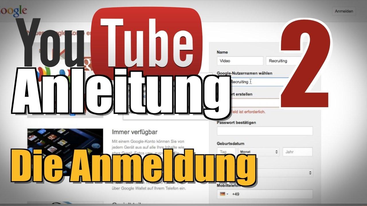 Anmeldung Bei Youtube