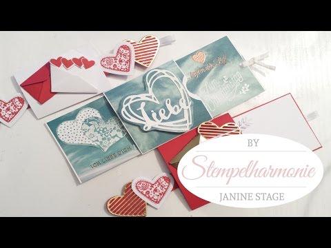 Ziehmechanismus für Karten und Geschenke | Valentinstag | Stampin' Up!