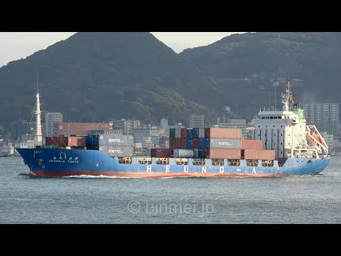[4K] HEUNG-A TOKYO - HEUNG-A Shipping container ship / 興亜海運 コンテナ船