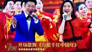 [2018央视春晚]开场歌舞《万紫千红中国年》 表演:凤凰传奇 容祖儿 周渝民等   CCTV春晚