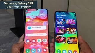 Samsung Galaxy A70 vs Samsung Galaxy A80: Comparison overview [Hindi हिन्दी]